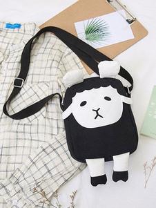 Bolsa de Lolita en Lolita negra Bolsa de hombro en Lolita de Color Design Sheep Design