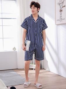 Image of Set da 2 paia di pigiama estivo 2018 estivo da salotto estivo in seta da uomo