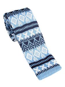 Image of Cravatta casual da uomo modello cravatta a maglia con motivo qua
