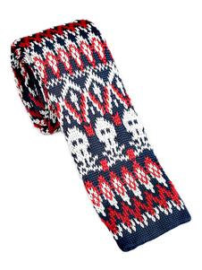 Image of Cravatta quadrata casual da uomo modello cravatta rossa