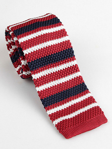 Image of Cravatta a quadri quadrata a quadri uomo con cravatta rossa lavo