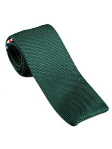 Image of Cravatta quadrata casual da uomo con cravatta a righe color bloc