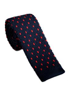 Image of Cravatta uomo casual cravatta in maglia jacquard a quadretti blu