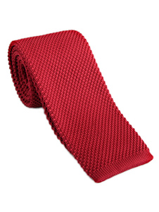 Image of Cravatta in maglia casual a quadri tinta unita uomo cravatta