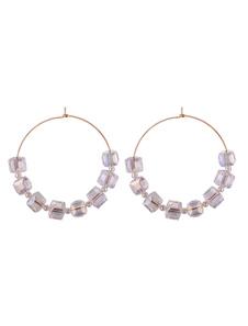 Image of Orecchini a cerchio con perline per donna