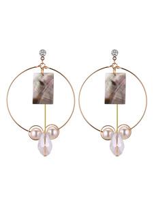 Image of Orecchini a cerchio in oro Orecchini a pendente in perla Orecchini pendenti Orecchini donna