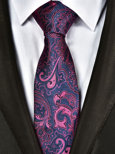Image of Cravatta uomo cravatta Jacquard Paisley Purple Business Casual