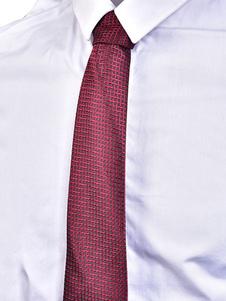 Borgoña lazo de hombres corbata casual de negocios Jacquard