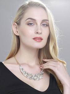Image of Monili del partito della collana della dichiarazione dei cristalli della collana della bibbia delle donne