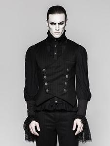 Image of Costume Halloween Gilet gotico Nero Uomo Retro Canotta