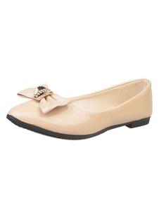 Albaricoque Zapatos de bailarinas ballet 2018 Mujer Zapatos Punta Puntiagua Zapatos Planos