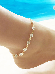 Image of        Beach Ankle Bracelet Strass Anklet Women Jewelry