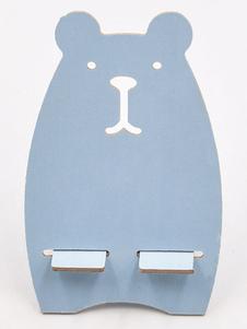Image of Supporto per telefono cellulare con supporto in legno tagliato da scrivania Supporto per supporto per telefono versatile per smartphone e tablet