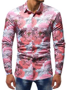 Image of Camicia casual da uomo Camicia a maniche lunghe a vestibilità re