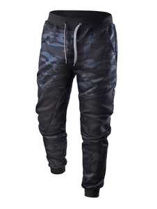Image of Pantalone uomo Jogger Pant Camo Stampa PU patchwork con coulisse