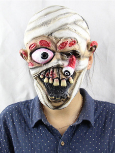 Image of Mummy Scary Mask Halloween Horror Maschere Costume adulto Latex