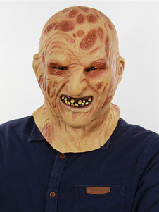 Image of Hallowen Scary Mask Latex Zombie Burnt Face Brucia faccia Horror