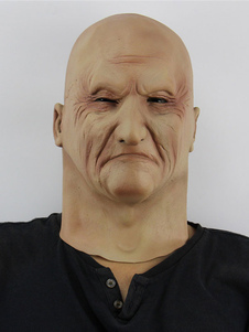 Image of Old Man Scary Mask Halloween Latex Horror Partito Terrore Full H