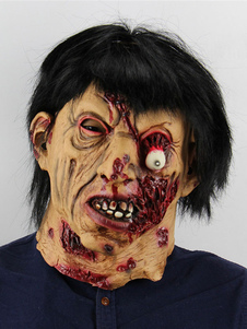 Image of Zombie Mask Scary Halloween Latex Full Head Horror Party Puntell