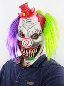 Image of Clown Mask Scary Halloween Divertente Latex Horror Accessori cos