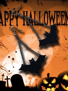 Image of Orecchini Statement Halloween Black Bat in pelle come orecchini