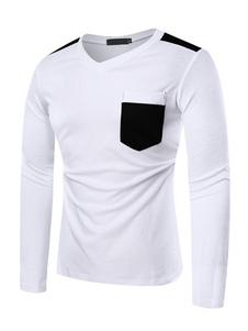 Image of T Shirt manica lunga da uomo slim fit t-shirt manica lunga con s