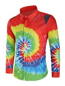 Image of Camicia a maniche lunghe Camicia casual uomo 3D Print Swirl Oran