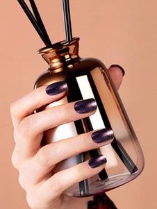 Image of        Adesivi per unghie delle donne Purple Nail Art con colla