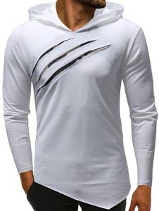 Image of T Shirt manica lunga con cappuccio Camo Stampa T Shirt uomo irre