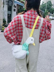 Bolsa de Lolita dulce Bolso de hombro Lolita de pana de diseño en color pato