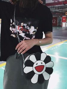 Bolsa de cadena Sweet Lolita Bolsa de hombro Sunflower Color Block PU Lolita