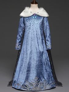 Adulto Princesa Elsa Snow Queen Girls Cosplay Disfraz Halloween Blue Dress para niños