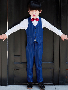 Image of Ring Bearer Outfit Wedding Boys Dark Navy Kids Abbigliamento for