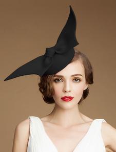 Image of Costume Carnevale Cappello retrò Cappello donna in lana nera Acc