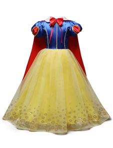 Blancanieves Princesa Vestidos niños del desfile del vestido de bola del traje de las muchachas Cosplay de Halloween