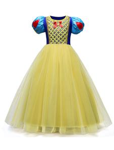 Blancanieves Princesa Vestidos Niñas Traje Cosplay Halloween Tulle Niños Vestido del desfile