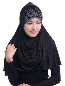 Image of Sciarpa Hijab Strass Accessori per abbigliamento arabo Sciarpa d