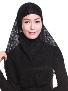 Image of Sciarpa di pizzo accessori hijab sciarpa abbigliamento musulmano
