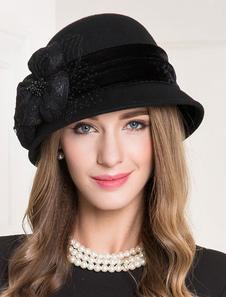 Image of Cappello di lana retrò Cappello di feltro di Halloween Cappello