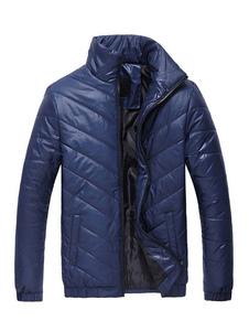 Image of Uomo Cappotto invernale Piumino collo alto Piumino trapuntato in cotone