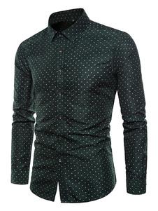 Image of Camicia a maniche lunghe Polka Dot Plus. Camicia casual Uomo Atr