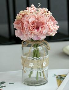Decoraciones de la mesa de la boda Flor de seda Vaso Comedor Mesa de centro