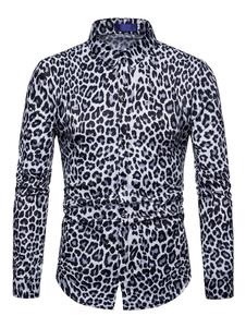 Image of Camicia Uomo 2019 Casual Camicia Nera con Maniche Lunghe Slim Fi