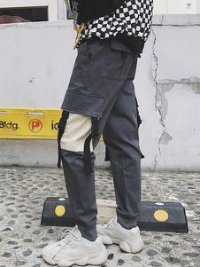 Image of Pantalone cargo da uomo a due tasche con tasche affusolate