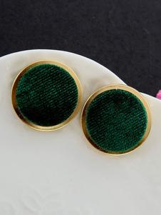 Image of Retro regalo dei gioielli del velluto a coste del cerchio degli orecchini del perno dell'annata per lei