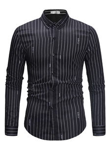 Image of Camicia casual a maniche lunghe da uomo con camicia stampata con
