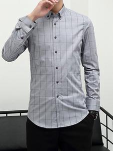 Image of Camicia casual da uomo Camicia a maniche lunghe con vestibilità
