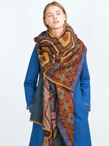 Image of Sciarpa coperta geometrica sciarpa boho delle donne