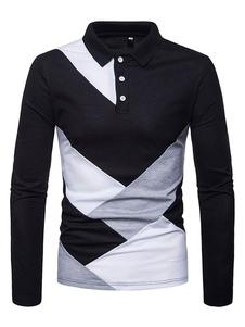 Image of Maglietta da uomo manica lunga T-shirt manica lunga slim fit col