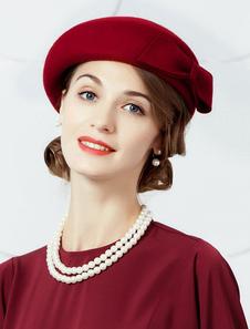 Image of Cappello di lana Cappello a berretto retrò Cappello a cuffia vin